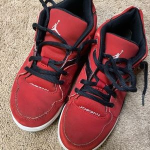 Size 3y Jordan sneakers red good condition